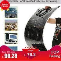 Портативный гибкие Панели солнечные s 18 В 100 Вт постоянное высокое качество автомобиля Панели солнечные Китая с распределительной коробкой