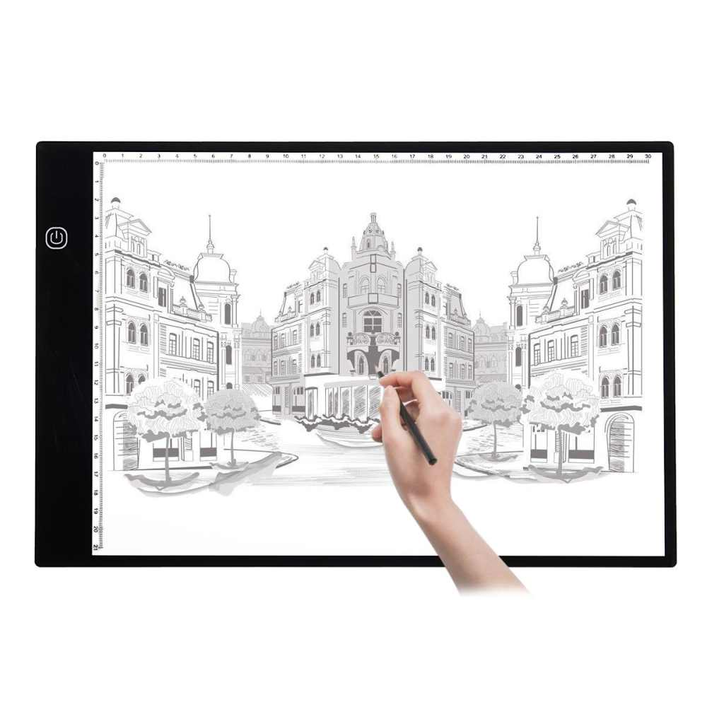 A4 size LED drawing board Lightbox Light Box Tracer USB Power Cable Dimmable Brightness LED Artcraft Tracing Light Pad