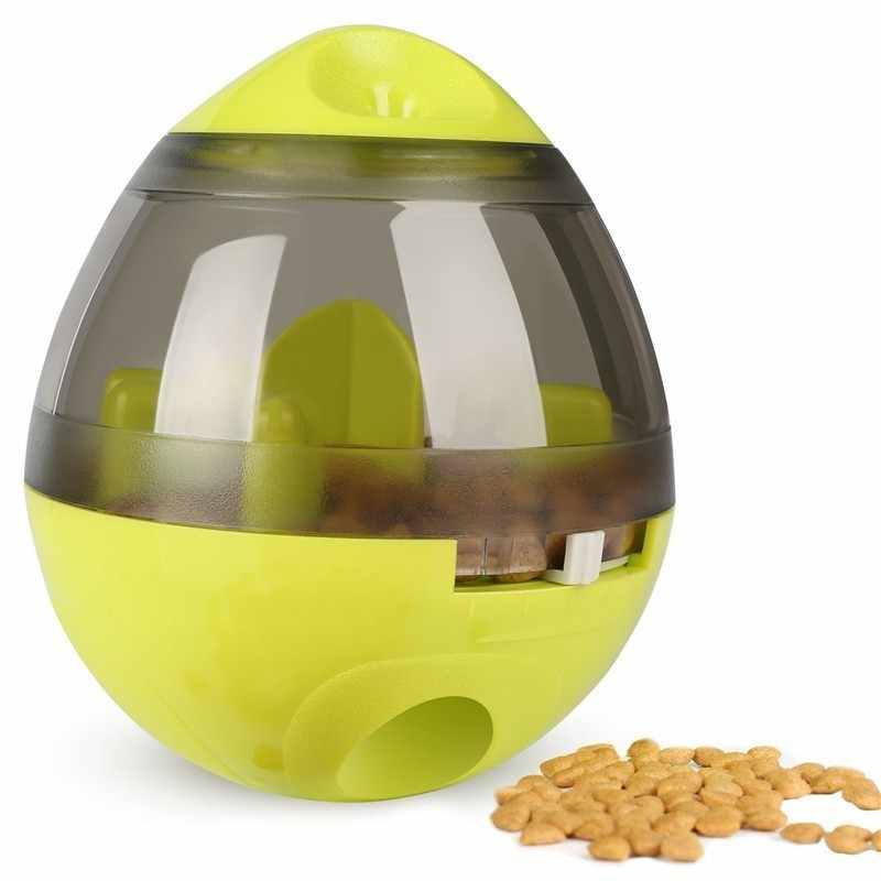 New Interactive Dog Cat Food Treat Ball Bowl Toy Funny Pet Shaking Leakage Food Container Puppy Cat Slow Feed Pet Tumbler Toy