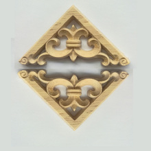 New Listing Wood Carving Angle Flower European Style Lattice Background Wall Applique Home Decoration Accessories dongyang wood carving applique motif wood shavings corner flower fashion solid wood furniture smd background wall ceiling home