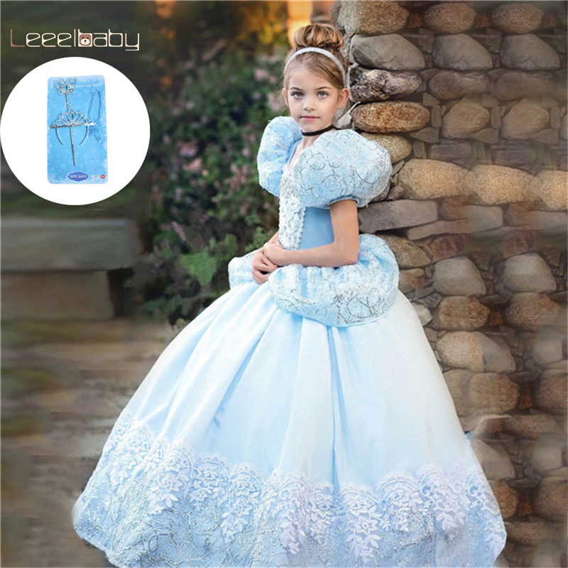 54a3a5bfa Niñas verano fiesta princesa vestido inspirado en Cenicienta Anna princesa  niño Aurora ropa niño ...