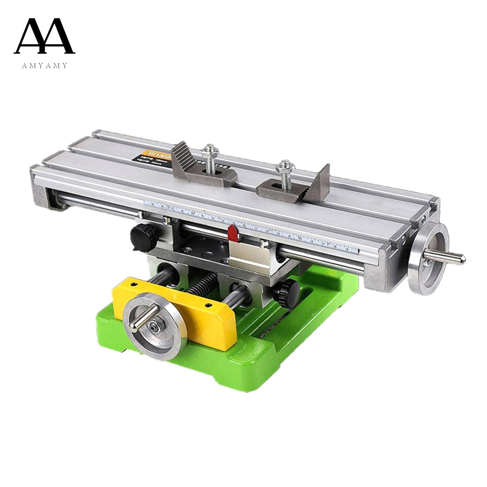 AMYAMY Compound Slide Table  Worktable Milling Working Cross Table Milling Machine Drilling Table For Bench Drill Adjustme X-Y amyamy mini drill press bench small drill machine work bench eu plug 580w 220v 5169a