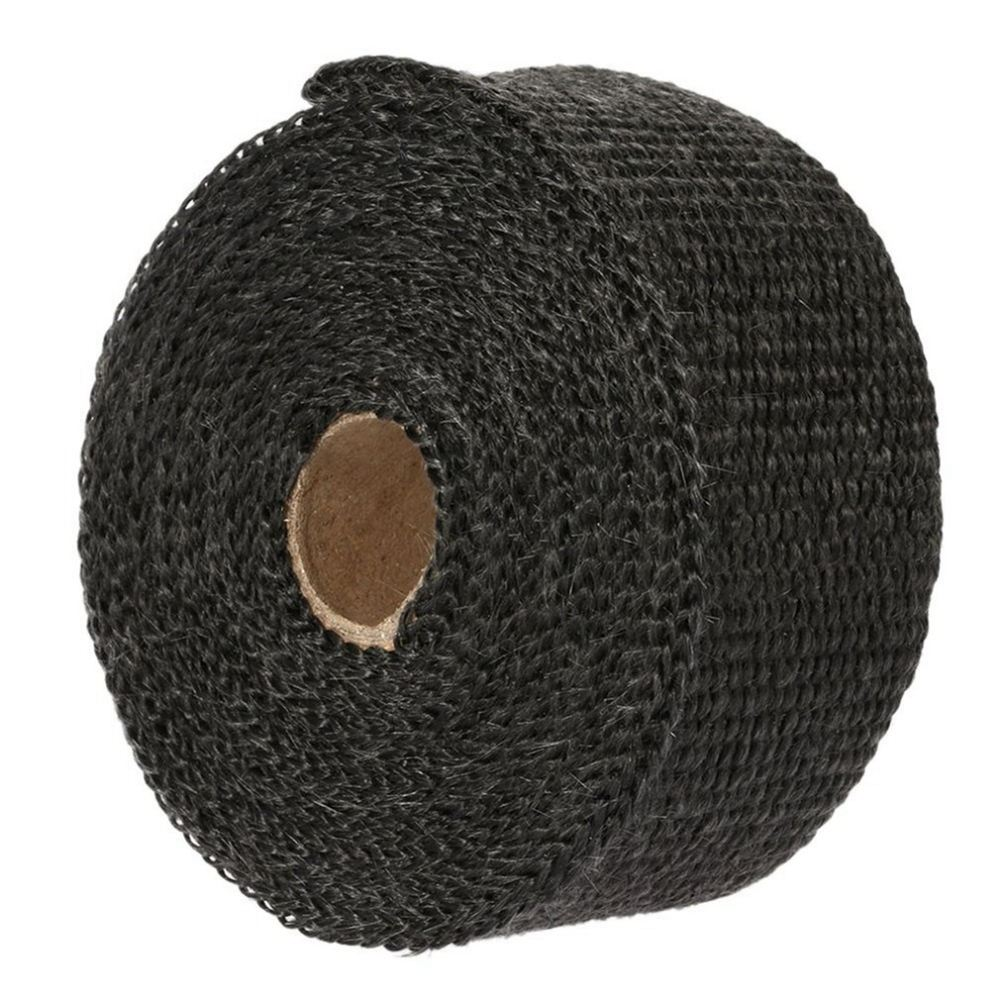 Car Motorcycle Exhaust Pipe Glass Fiber Cloth High Heat Insulation Resistant Wiring Insulating Tape 15m Wrap With