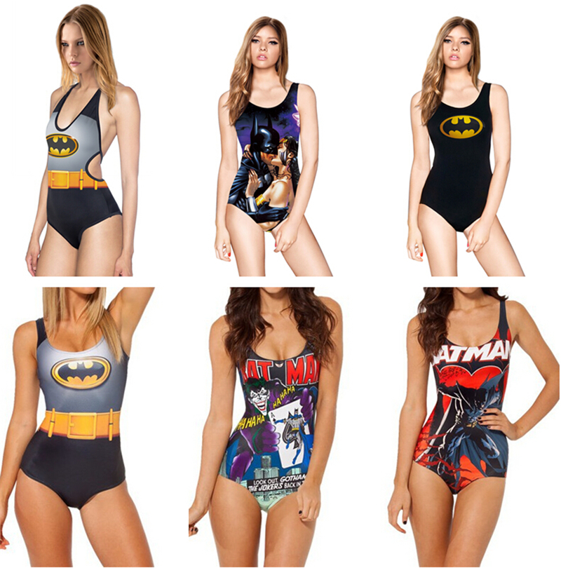 Bathing bikini swimsuit Women One Pieces BATMAN DIFFERENTLY SANE IVYJOKER'S REVENGE sexy Beach Suits 3D Print Swimwear LNSst
