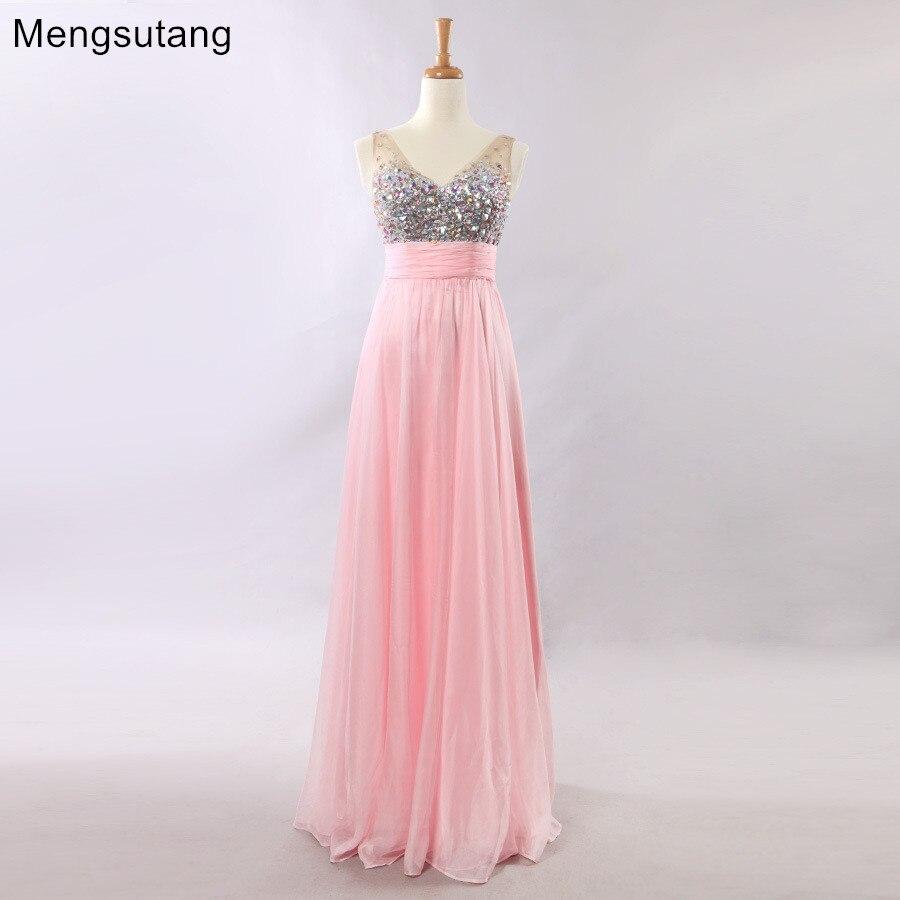 Robe de soiree 2019 floor-length Tank V-Neck A-line Strapless Sleeveles Long   evening     dress   vestido de festa prom   dresses