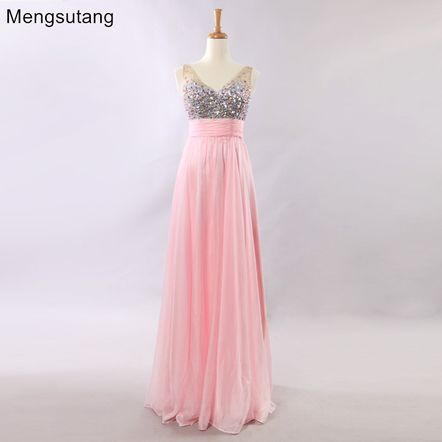 Robe de soiree New 2019 V-Neck A-line Strapless Sleeveles Long   evening     dress   reflective   dress   vestido de festa prom   dresses