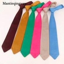 Mantieqingway 7cm Knit Ties For Men Knitted Necktie Wedding Knitting Slim Gravatas Mens Polyester Corbatas Vestidos Cravat