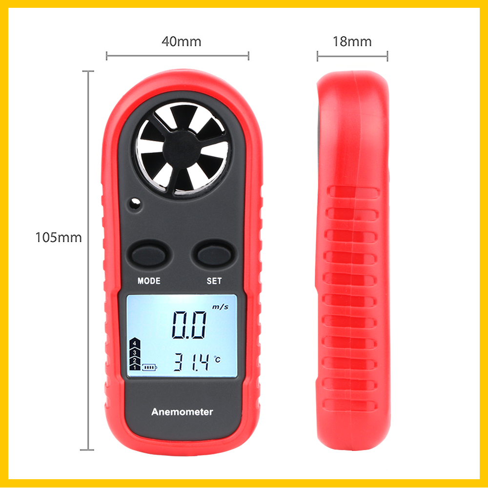 Portable RZ GM816 Wind Speed Meter Used as Anemometer with LCD Display Useful for Windsurfing 16