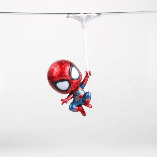 the avengers3 returning heroes shake head version spiderman upside