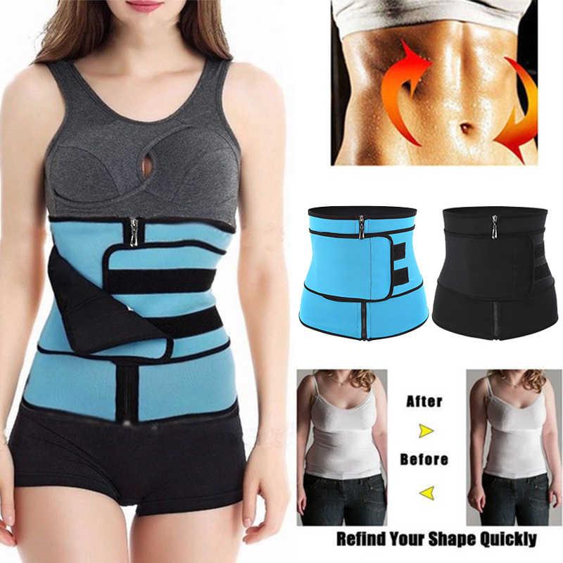 46810b8bd Women Tummy Belt-Body Shaper for Stomach lose weight Hot Sweat Wrap Workout Waist  Trainer