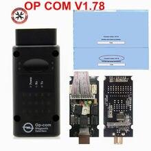 V1.78 versión OP COM Auto herramienta de diagnóstico escáner con PIC18F458 chip OBD2 OP-COM/OPCOM CAN autobús para Opel