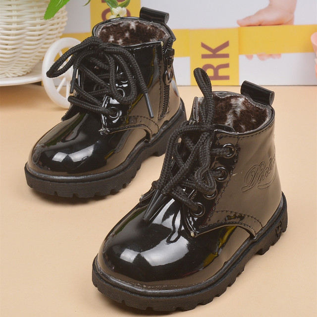 Musim gugur Perempuan Laki-laki Sepatu Boots Anak Mode Sneakers Martin  Boots Anak Siswa Sekolah aca4daa08b