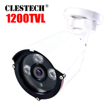 1200TVL CCTV HD Camera Analog Camera 24h Day/Night Vision Bullet Camera For Surveillance array Infrared System Waterproof ip66 все цены