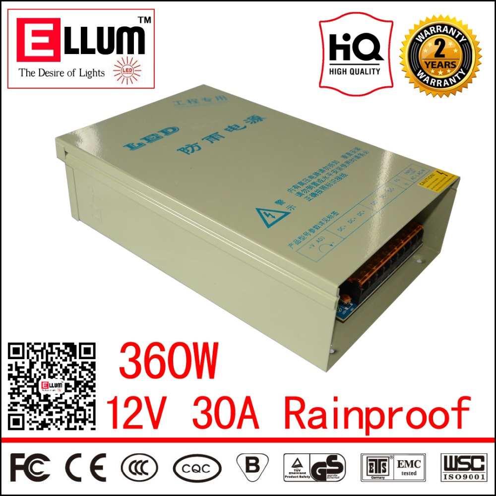 ФОТО Outdoor Rainproof LED Driver Transformer CE ROHS Approval AC DC Constant Voltage output Switching Power Supply 12V DC 30A 360W