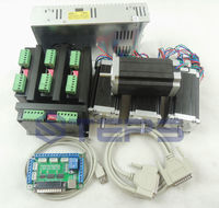 CNC mach3 4 Axis kit, 4pcs TB6600 driver +one breakout board + 4pcs Nema23 425 Oz in stepper motor + 350W power supply#ST 4045