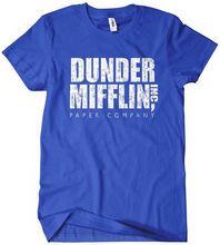 2017 Direct Selling Promotion Fashion O-neck Broadcloth Tee4u Male Designing T Shirt Men's Regular Short Dunder Mifflin Inc Tee