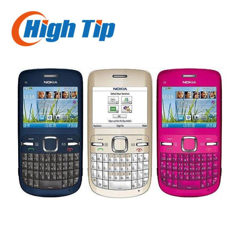 Brand nokia C3 Original unlocked nokia C3 C3 00 cell phone WIFI bar one year warranty