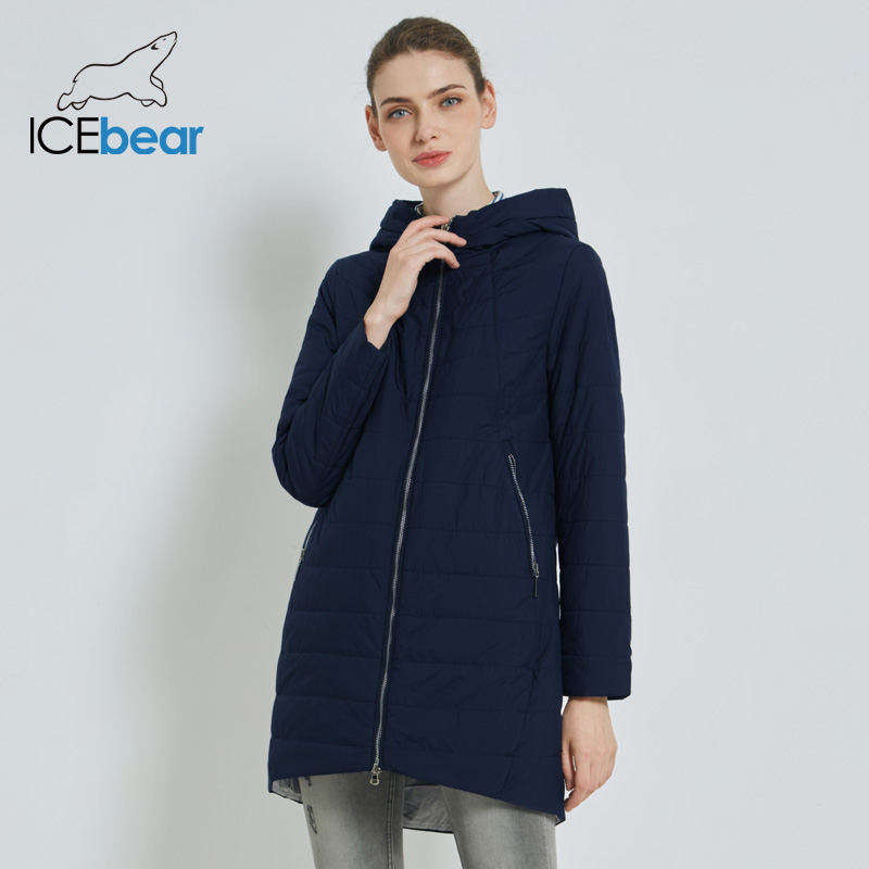 ICEbear 2019 delle Nuove donne di Autunno Cappotto di Modo Giacca Donna delle Donne di Alta Qualità di Abbigliamento di Marca Con Cappuccio Abbigliamento Femminile GWC18005I-in Parka da Abbigliamento da donna su  Gruppo 2