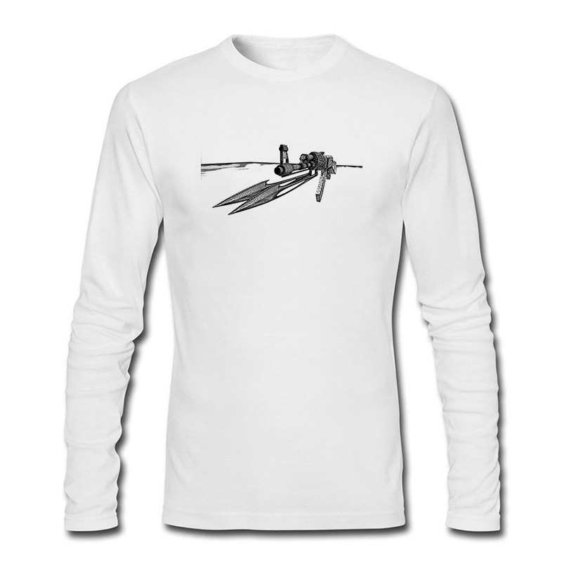100 Cotton Casual Funny Print T shirt AK With font b Knives b font Pattern Custom