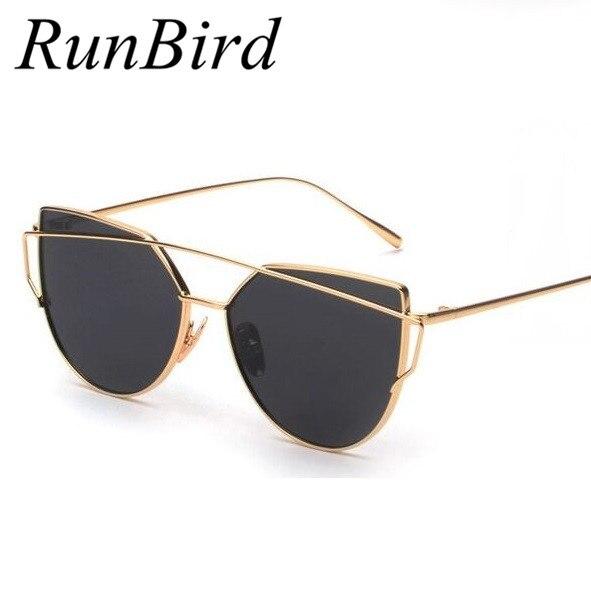 Best Metal Frame Glasses : 2016 Fashion Cat Eye Sunglasses Women Brand Designer Flat ...
