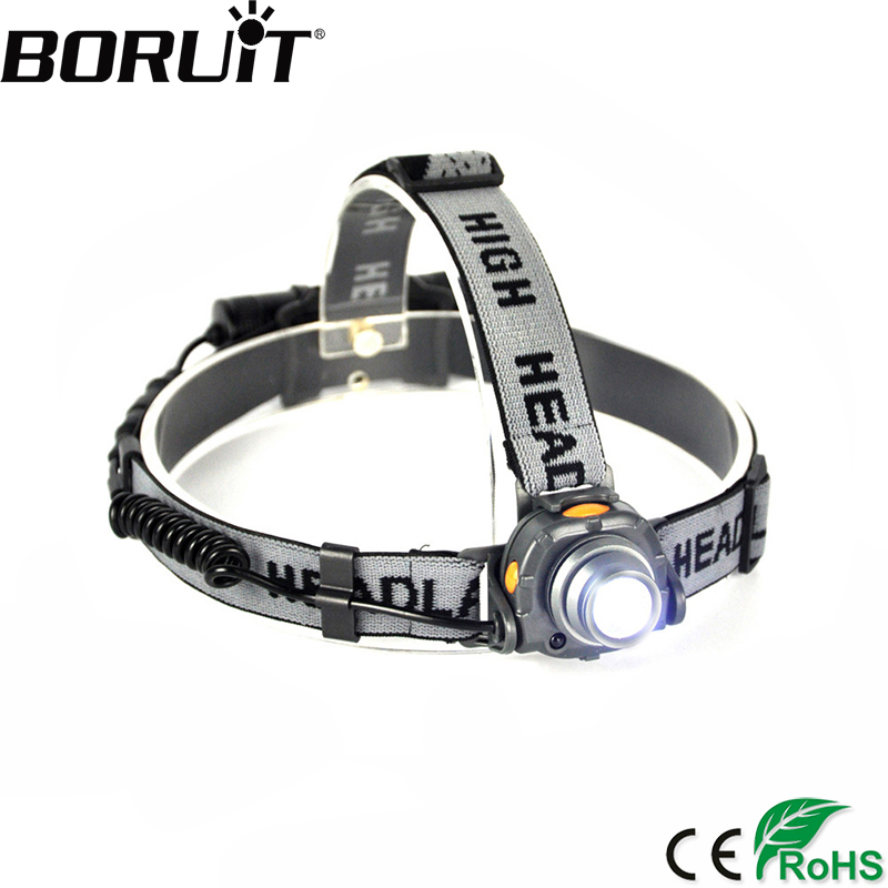 BORUiT Aluminum XPE LED Headlamp with IR Sensor Control Headlight for Fishing Head Lamp Torch Lantern Light by 18650 Battery цена