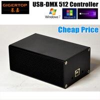 Çin DMX512 Sahne Işık Denetleyicisi Kutusu HD512 Evrensel USB DMX Dongle 512 Kanallar PC/SD Çevrimdışı Modu Martin Lightjockey