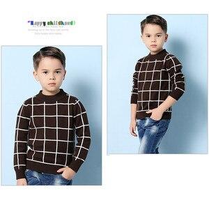 Image 5 - Niebieski Casual Plaid berbeć chłopcy swetry swetry czarna bawełniana szydełkowa odzież dziecięca zielona wiosenna dzianina dziecięca jesień
