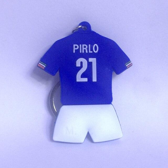 Soccerwe Kit Boneca Astro do Futebol Clássico Itália Pirlo Azul No. 21 Coleção Decoração