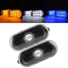 2 pçs marcador lateral do carro sinal de volta luz de advertência preto capa da lâmpada se encaixa para vw bora/golf 4/mk4 1998-2005 estilo do carro