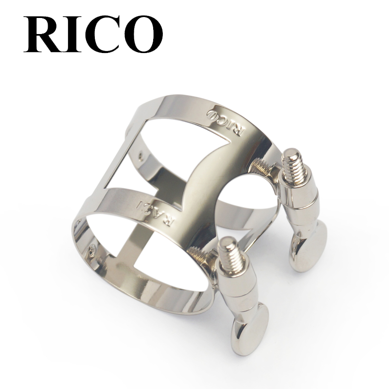 Ligadura y tapa Rico saxo alto niquelada.