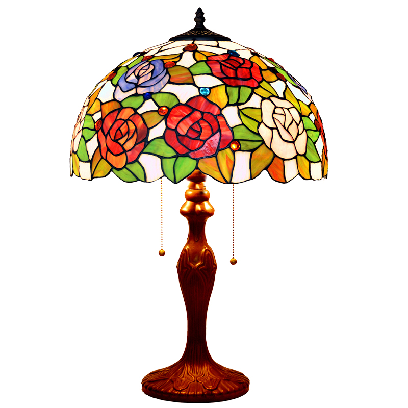 Stained Glass Flower Wedding Marriage Room Hotel Cafe Bar Restaurant Decorative Large LED Bedside Desk Table Lamp Light Two E27 bl1840 electric drill battery 18v 4000mah for makita 194205 3 194309 1 bl1845 bl1830 bl1445 bl1460 18v 4 0ah li ion battery