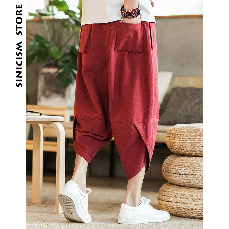 796d1e57e0 Sinicism Store Mens 2018 New Beach Pants Male Summer Casual Calf Length  Pants Man Carp Embroidery Baggy Loose Trousers-in Harem Pants from Men's  Clothing ...