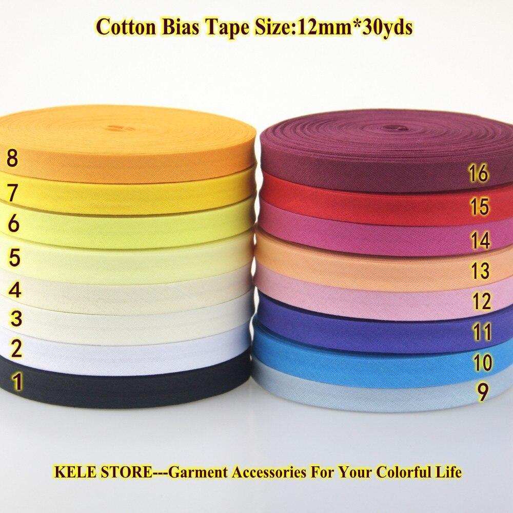 Free Shipping 100% Cotton Bias Binding Tape, The Narrowest