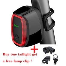 Прокат Света Meilan X6 Smart LED Заднего Габаритного Огня Велоспорт Удара Дневного Света Зондирования Переключатель 7 Модель Вспышки USB Аккумуляторная Велосипед Задний Фонарь