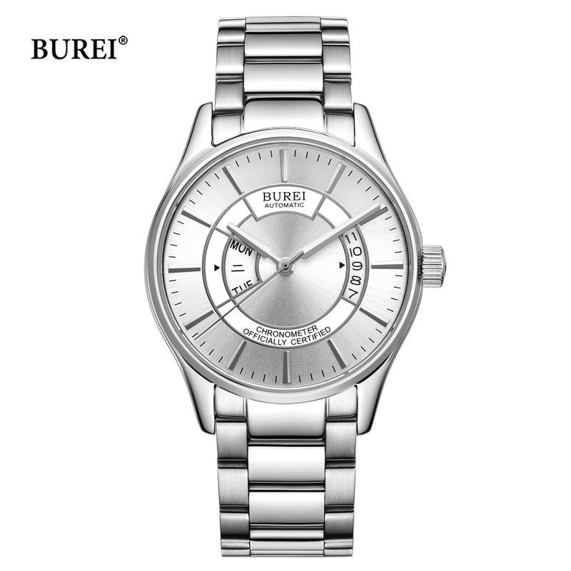 BUREI Watch Men Automatic Mechanical Watch Relogio Masculino Military Wrist Watches Clock Men Business Watch Reloj Hombre 2018 цена 2017