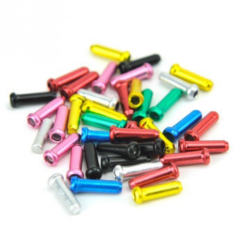 10 Pcs / Lot Bike Cycling Bicycle Aluminum Brake Cable Tips Crimps Bicycle Derailleur Shift Cable End Caps Cycling Core Caps~