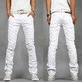 Мужчин джинсы 2017 летний новый мужские джинсы белые уменьшают подходящие Джинсы мужчин случайные сексуальные тощие 28-40