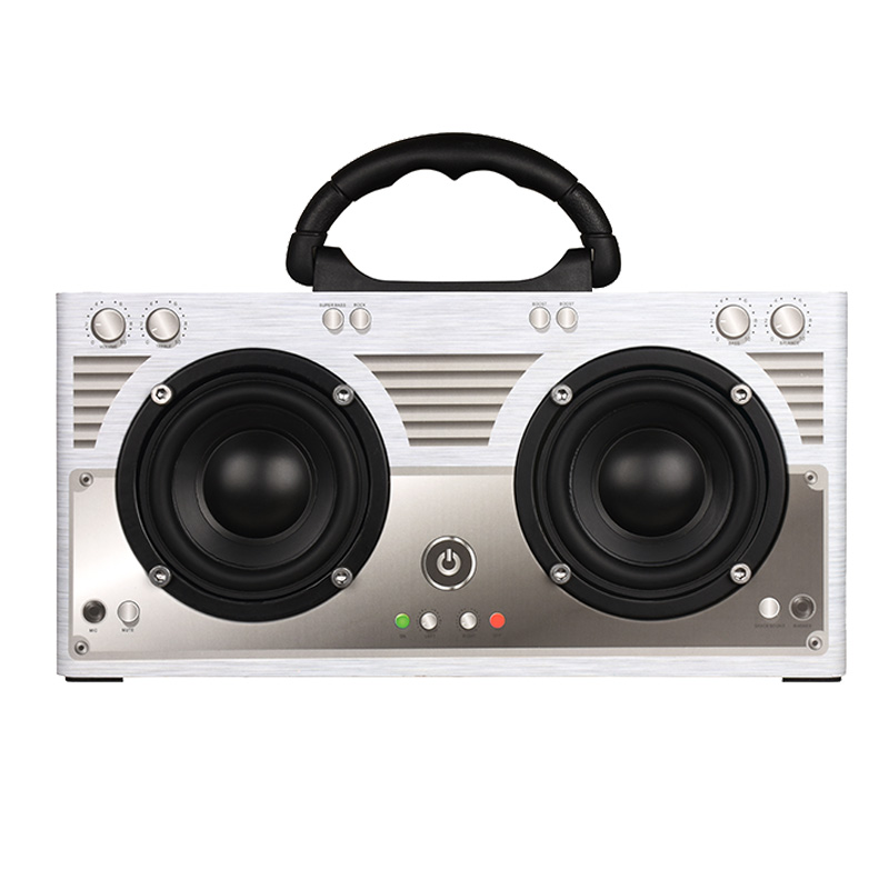 Wooden Wireless Bluetooth Speaker Subwoofer Boombox Speakers 20W Bass Soundbox MP3 Player Hands-free Support TF AUX with phone w king speakers portable bluetooth speaker 20w subwoofer mini wireless speaker for phones support tf card aux computer speakers