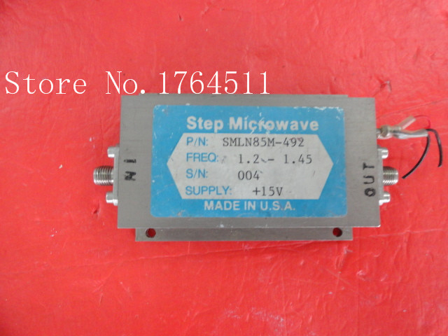 [BELLA] Step Microwave SMLN85M-492 1.2-1.45GHz 15V Supply Amplifier SMA
