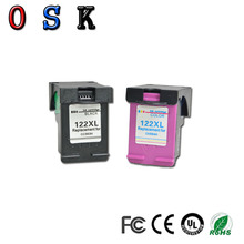 цены на OSK 1set 122XL ink cartridges compatible For HP122 XL For HP Deskjet 1000 1050 1050A 1510 2000 2050 3000 3050 Printer  в интернет-магазинах