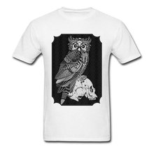 Tristan Owl And Skull Patchwork Printed T Shirts 2018 New Arrival Adult Tee Shirt Homme High Quality Sleeved Sweashirt Summer