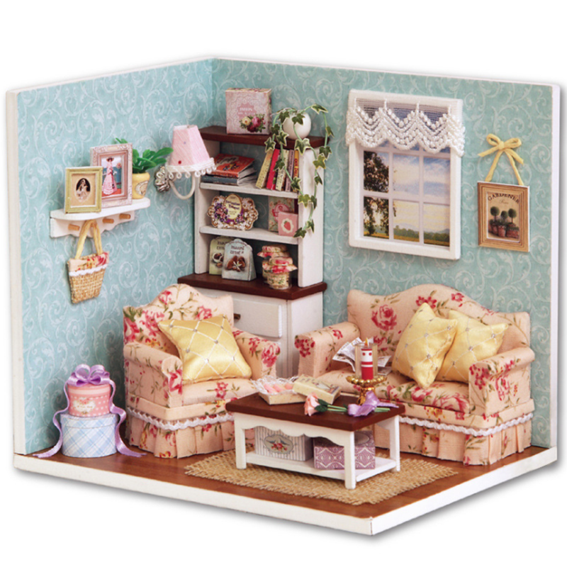 Toys & Hobbies Ins 3d Diy Handmake Wooden Dollhouse Miniature Kit Reunion With Happiness Cute Bedroom Furniture Model Girl Doll House Room Box