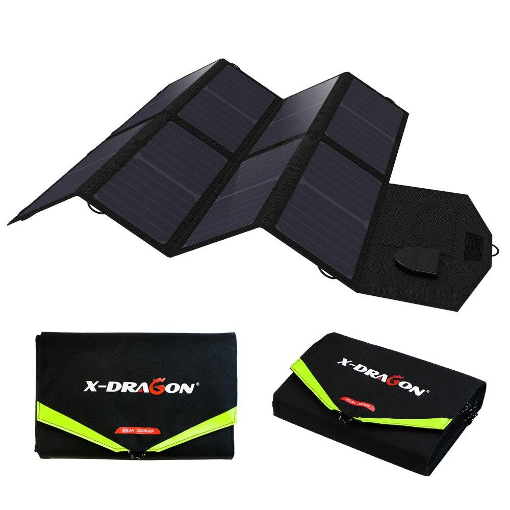 Cargador portátil cargador de teléfono 40 W energía Solar cargador rápido para teléfonos móviles tabletas portátiles 12 V batería de coche