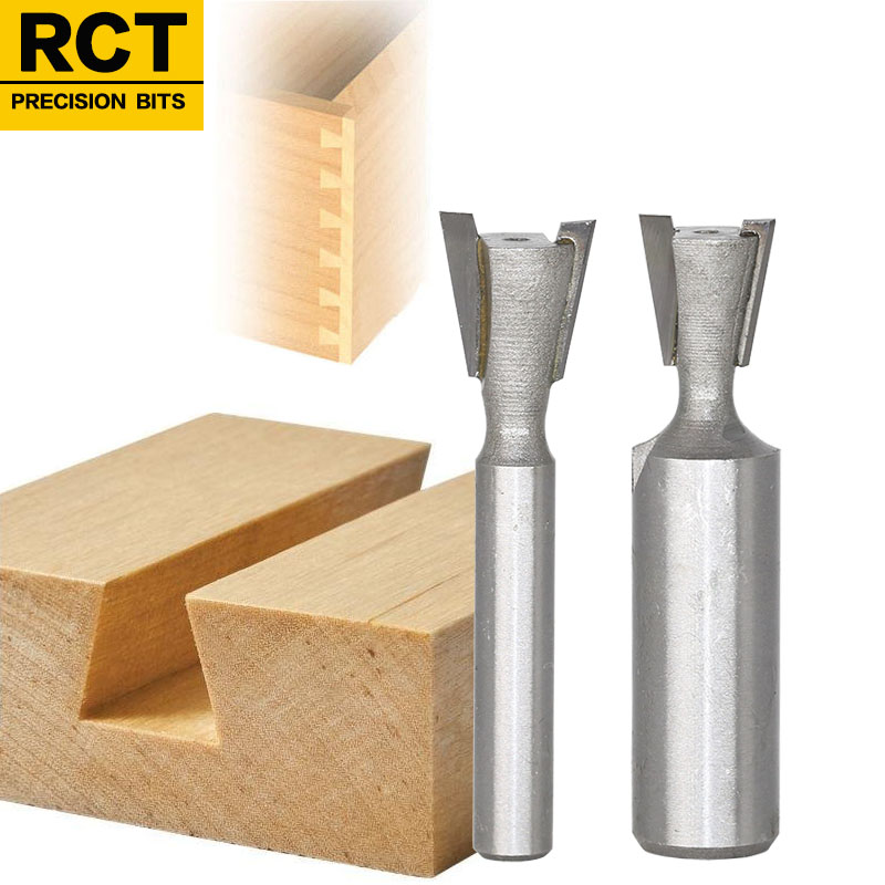 1pc1/4 1/2mm Shank High Quality Industrial Grade Wood Cutter Dovetail Router Bits for wood Tungsten Engraving Tool Milling high grade carbide alloy 1 2 shank 2 1 4 dia bottom cleaning router bit woodworking milling cutter for mdf wood 55mm mayitr
