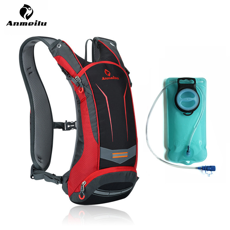 Anmeilu 2L Water Bag 8L Camelback Hydration Backpack Ultralight Sport Camping Climbing Running Cycling Water Bladder Mochila anmeilu 25l climbing bag sports rucksack waterproof cycling camping backpack rain cover sport travel bags 2l water bag camelback
