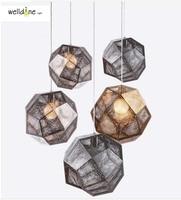 Золото реплики современное освещение британский дизайн травления затеняющая подвеска абажур лампы для Кухня потолочный светильник с E27 220