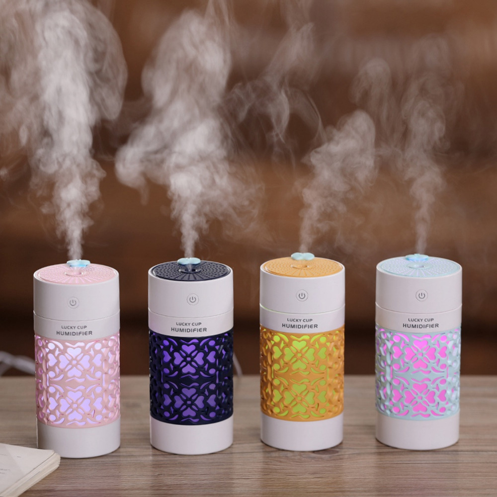 Mini Air Humidifier Essential Oil Diffuser With Color Night Lights Electric Aromatherapy USB Humidifier Car Aroma Diffuser H