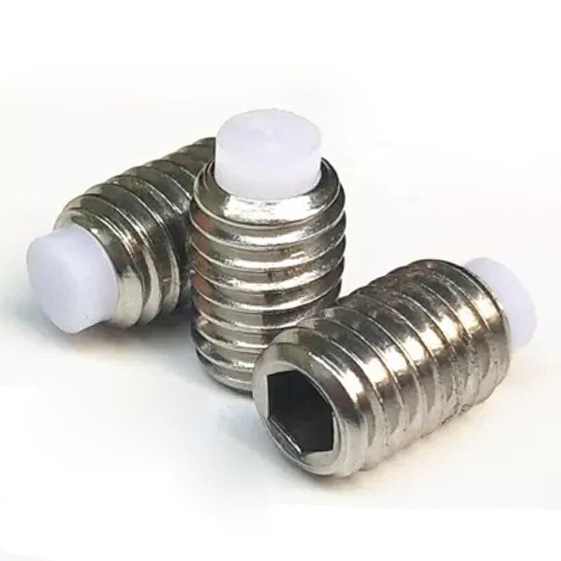 Hardware Home Improvement 2pcs Plastic Head Top Wire Pom Head Positioning Beads Grub Buffer Screw Plunger M4