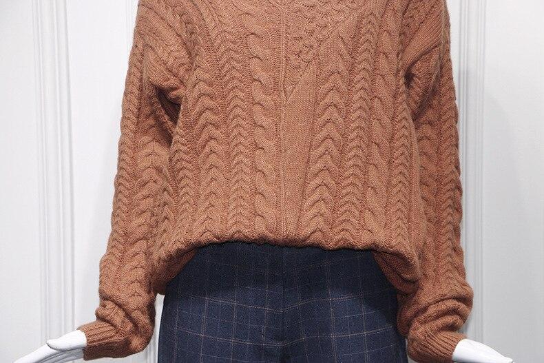 Di Inverno Mujer In Pullover Vendita Il Caldo Maglione Cachi Per Donne dq6wfd