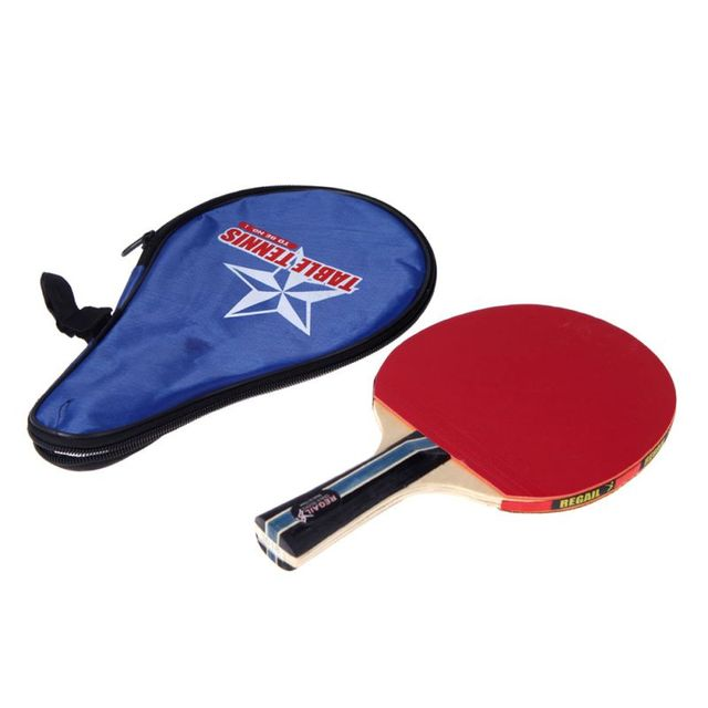 ebf47c0fded2 Long Handle Shake hand Table Tennis Racket Ping Pong Paddle + Waterproof Bag  Pouch Red Indoor Table Tennis Accessory-in Table Tennis Rackets from Sports  ...